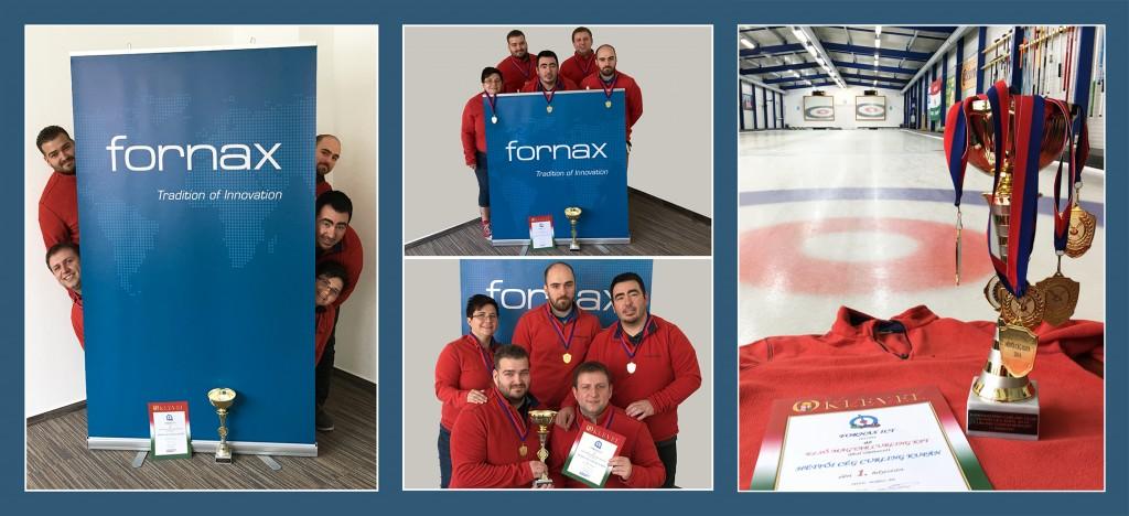Tarolt a Fornax Curling csapata - Veretlen (5 - 0) győzelem