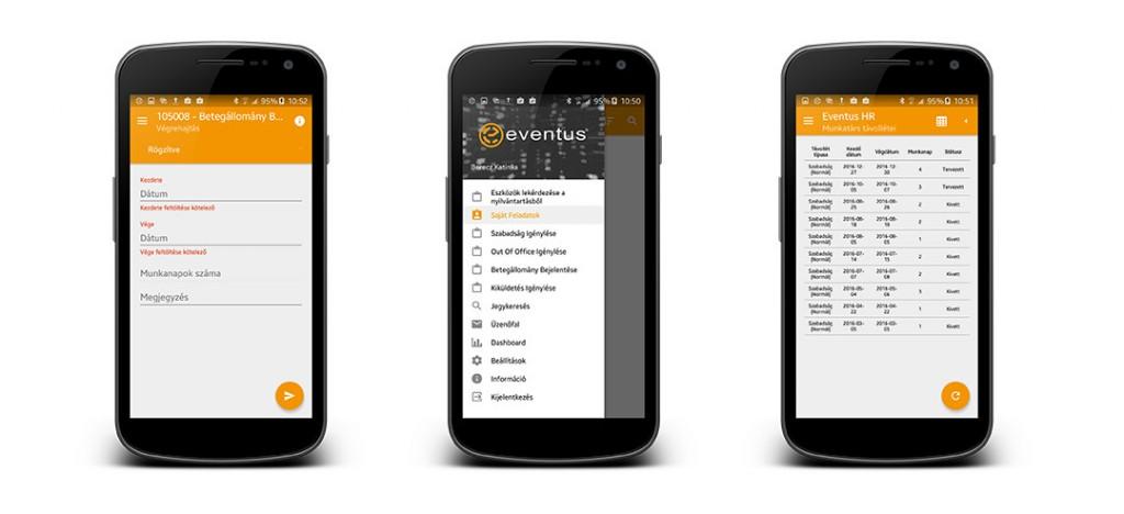 Eventus HR modul a Fornaxtól - HR adminisztráció bárhol bármikor, mindhárom mobil platformon