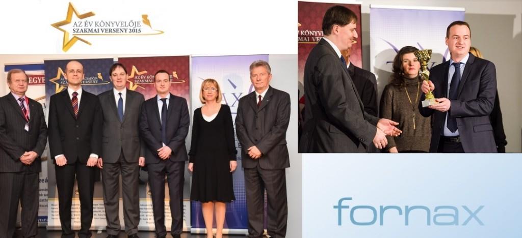Mátyás Csaba, a Fornax pénzügyi vezetője ismét az Év könyvelője díj kitüntetettje
